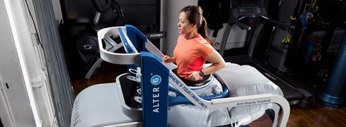 AlterG Treadmill Finish Line