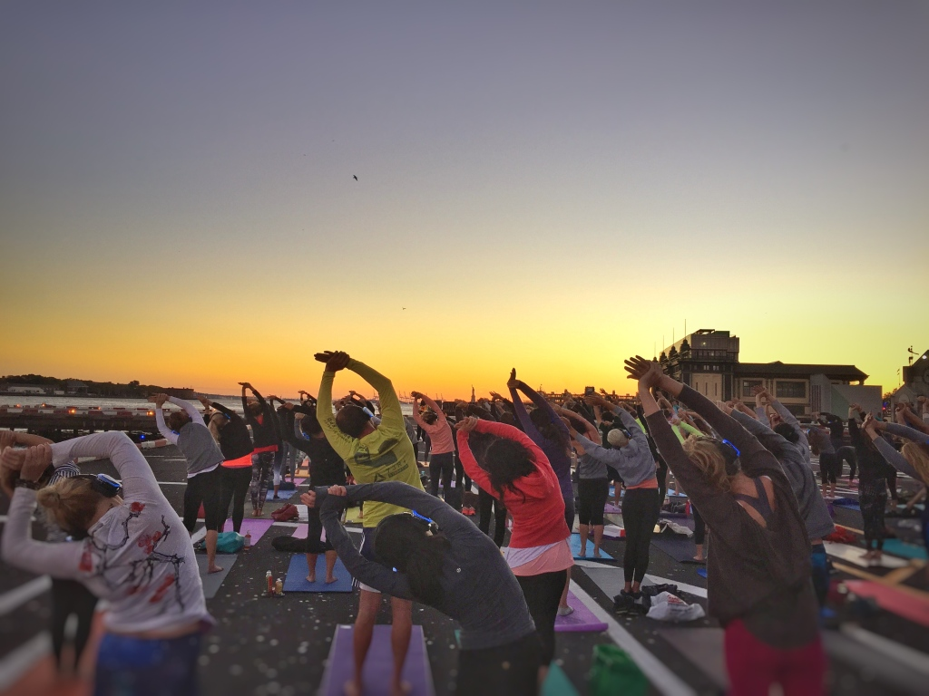 sunset at #helipadyoga